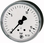 Standard pressure gauge, rear centric, G 1/4, -1 / 0 bar, 63