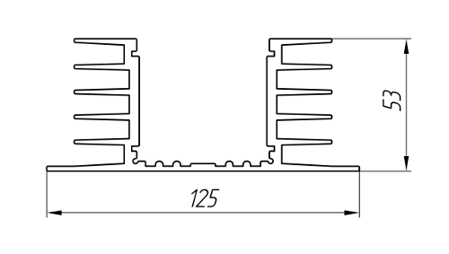 Aluminum Profile For Cooling Radiators Ат-2126
