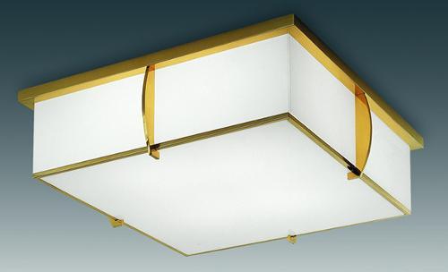квадратная потолочная лампа арт-деко