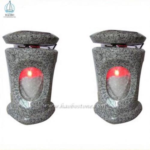 High Quality Granite Cemetery Lamp For Memorial