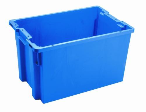 Contenitore in plastica inserible e sovrapponibile