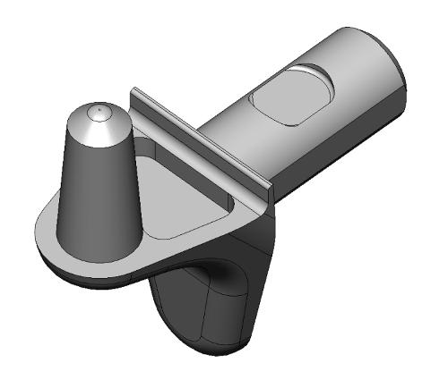 Bodenträger spezial mini - Zamak - 2 Zapfen - blank