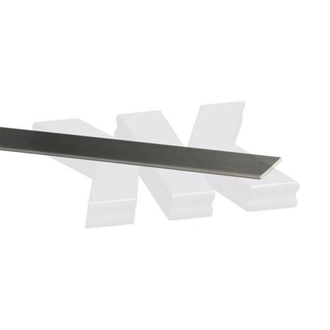 Flat-profile 20x2mm, anodized
