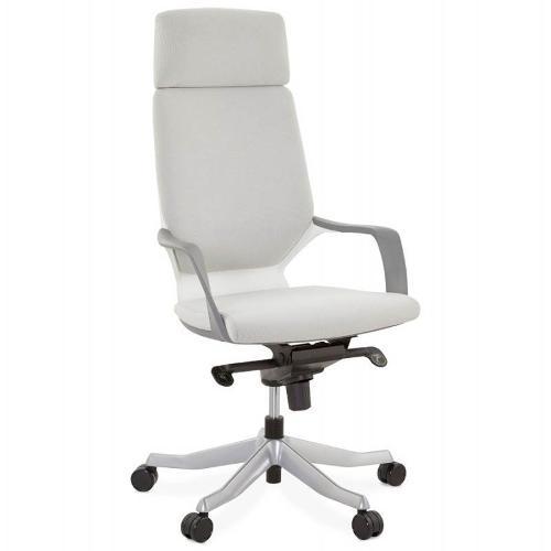 Fauteuil de bureau ergonomique RAMY en tissu (gris)
