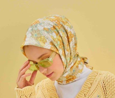 patterned cotton silk scarf-soft floral pattern