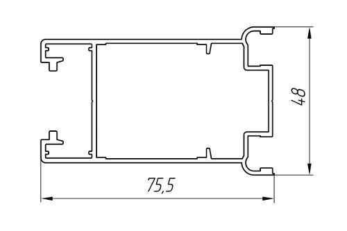 Aluminum Profile For Doors Ат-3024