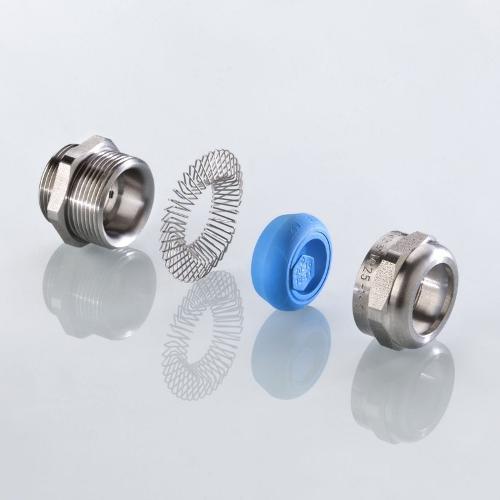 Die EMV-Kabelverschraubung blueglobe TRI mit UL-Zulassung
