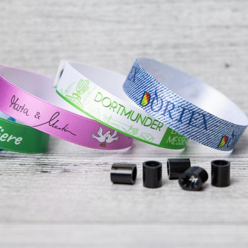 Fabric wristbands for events or as entry wristbands