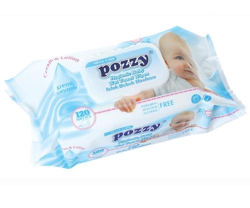 Pozzy Baby Wet Towel Wipes 120pcs