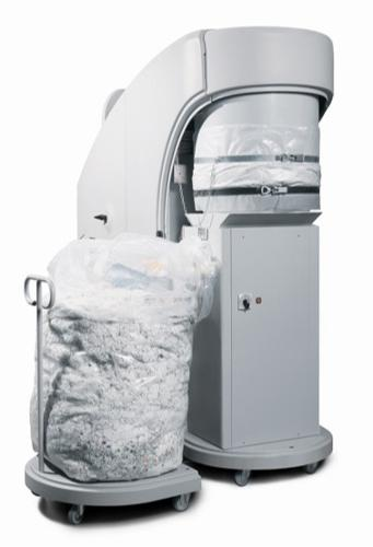 Disposable plastic bags for paper shredders