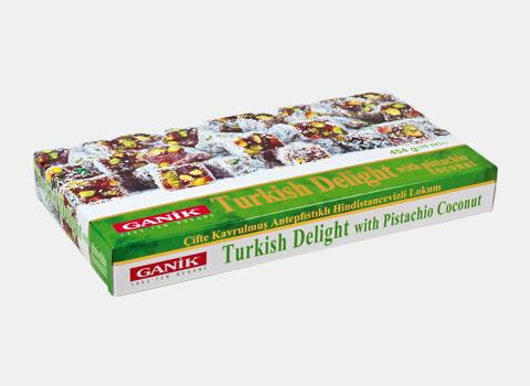 Turkish Delight with Pistachio Coconut Double Roasted 454 g