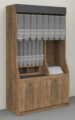 Unpackaged, dispenser cabinet