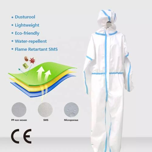 coverall with taped EN 14126 type 5/6