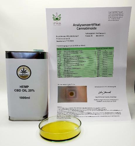 Hanf CBD Öl 20% 1 Liter