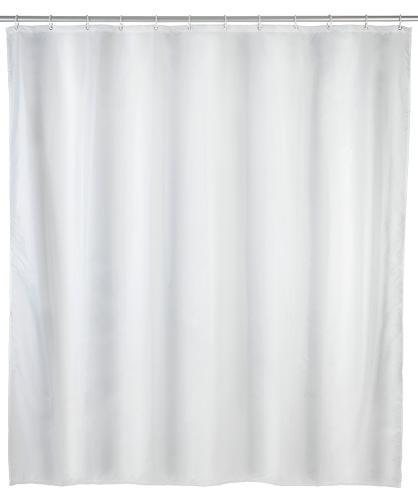Duschvorhang Uni Weiß, 180 x 200 cm