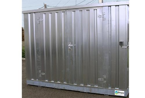 Bungalow de stockage 3 m x 2 m - Stockage rétention 727 L