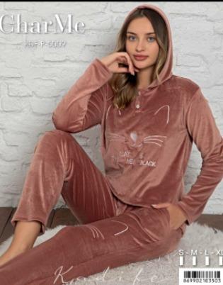 Kadife bayan pijama