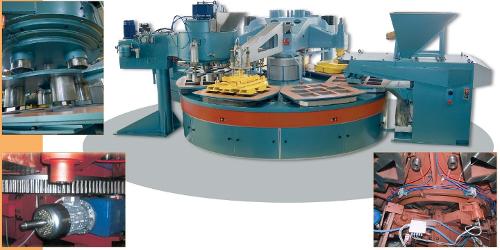 Prensa para la fabricación de terrazo