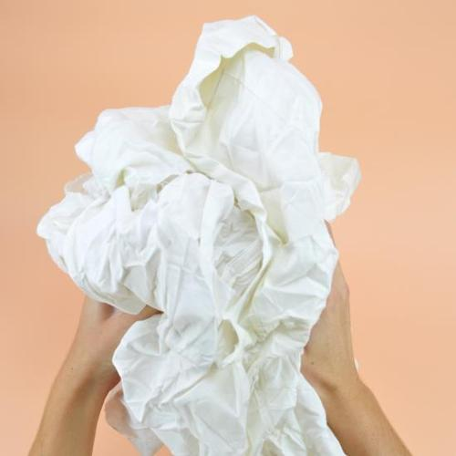 Chiffon drap caritas blanc régulier cotonneux carton...