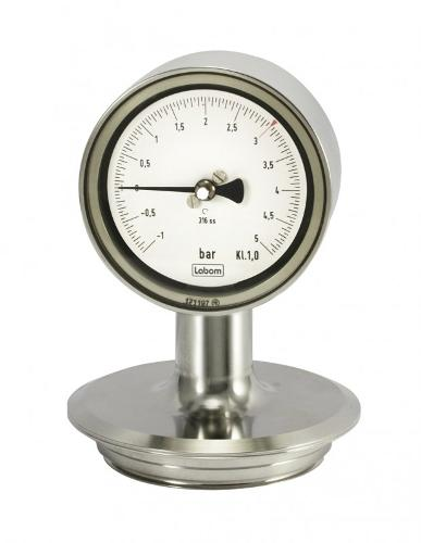 Mechanisches Druckmessgerät NG 63/100 für Druckmittleranbau