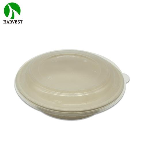 Harvest CR32 Sustainable Compostable Fiber Pulp Salad Bowls