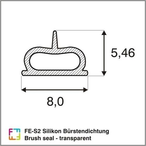 FE-S2 Silikon Bürstendichtung - Brush seal