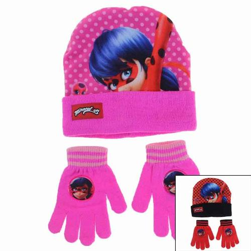 Manufacturer kids cap and gloves licenced Miraculous