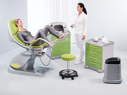 Mobile Supply/Disposal System for Gynaecology and Proctology