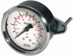 Standard pressure gauge, triangle front ring, G 1/4, 0...