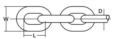 Ordinary Mild Steel Welded Link Chain