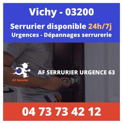 Serrurier sur Vichy – 24h/24 et 7j/7