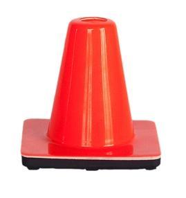 Cone mini soft pvc no stripes H 15 cm