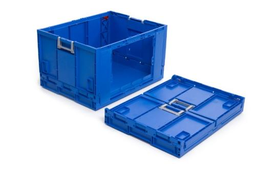Caixas de plástico rebatíveis