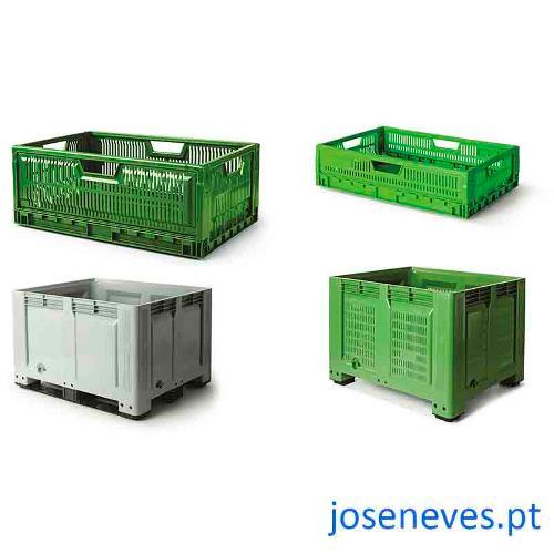 Contentores, caixas e tabuleiros plásticos