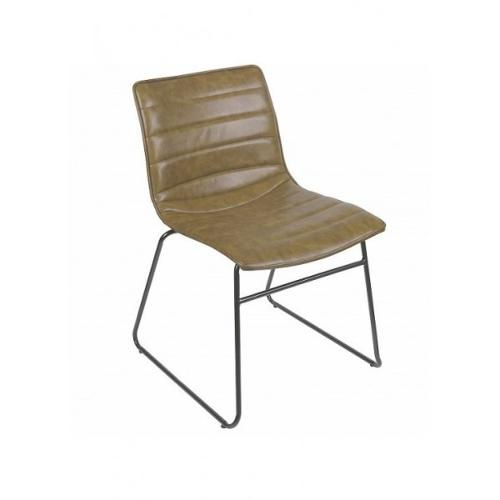 Chaise brooklyn kaki / marron