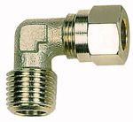 Angled screw-in fitting, R 1/2 o., Pipe exterior 18 mm
