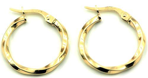 Pendientes de Aro trenzado en Oro