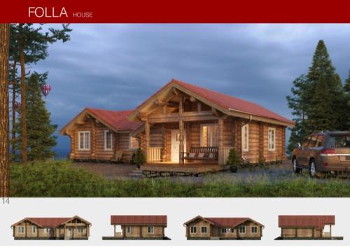 Prefabricated wooden house FOLLA