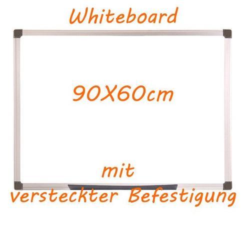 Whiteboard 90x60cm versteckte Befestigung