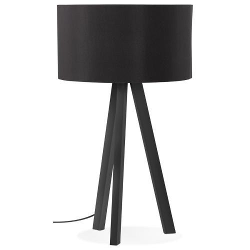 Design-leuchte Mit Lampenschirm Auf Stativ Schwarz Trani Mini (schwarz)