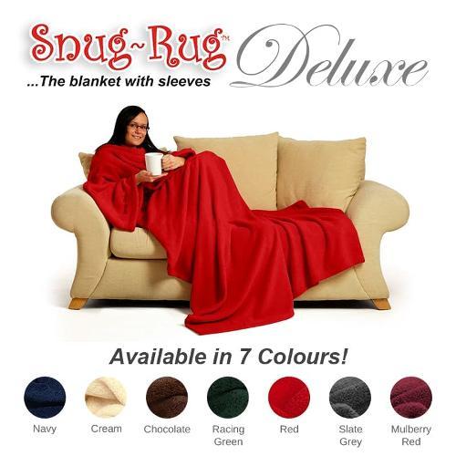 Snug Rug Deluxe Blanket with Sleeves