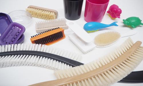 Massage brush to nail brush