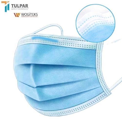 type IIR 3 plis masque facial bleu masque facial jetable de