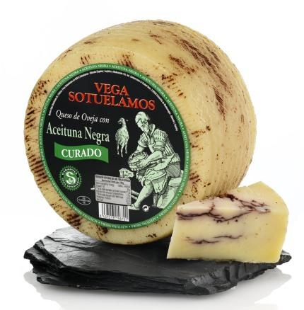 HARD SHEEP MILK CHEESE WITH BLACK OLIVES