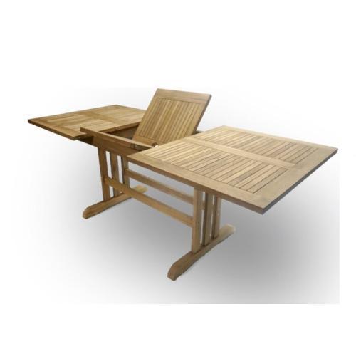 extendable garden table teak wood