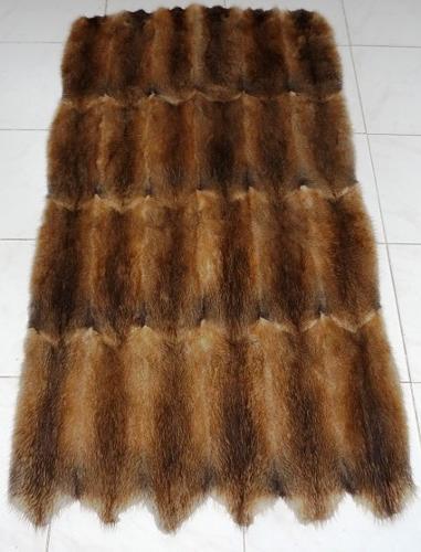 Muskrat back fur plate 60x120 cm for sale