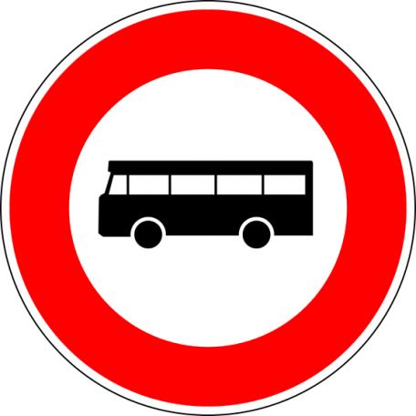 Panneau B9f Accès Interdit Aux Véhicules De Transport En Commun De Personnes