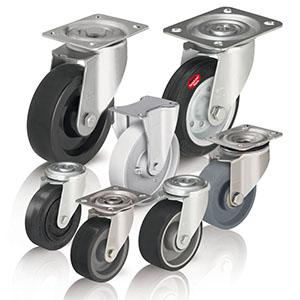 Heat-resistant wheels and castors
