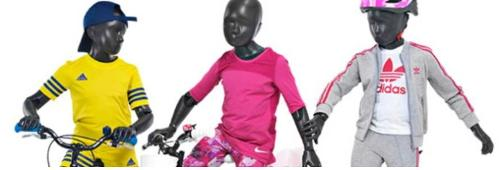 Mannequins vitrine enfant flexible