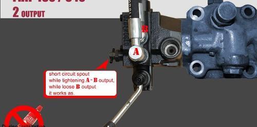 FIAT HYDRAULIC CONTROL VALVE (2 SPOOL)